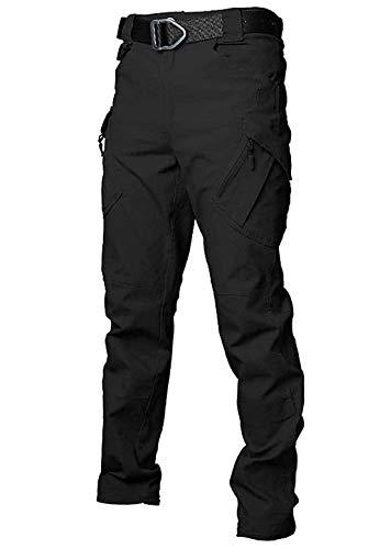 Men's Tactical Cargo BDU EDC Work Hiking Pants Trousers Black