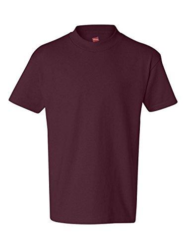 Hanes boys Cotton T-Shirt(5450)-Maroon-S