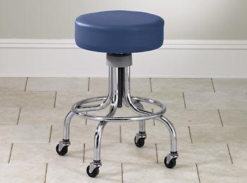 CLINTON VALUE SERIES STOOLS-CLASSIC CHROME Tall adj chrome base stool w/ring Item# (Clinton Classic Series)