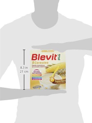 Blevit Plus Superfibra 8 Cereales, 1 unidad 600 gr. A partir de los 5 meses: Amazon.es: Alimentación y bebidas