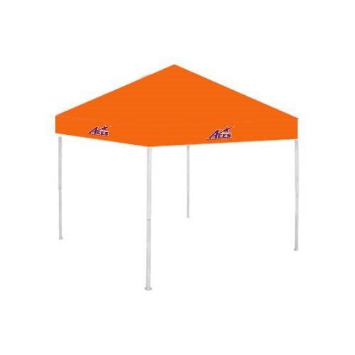 Evansville 9 ft x 9 ft Orange Tent 'Purple Aces Official Logo' by CollegeFanGear