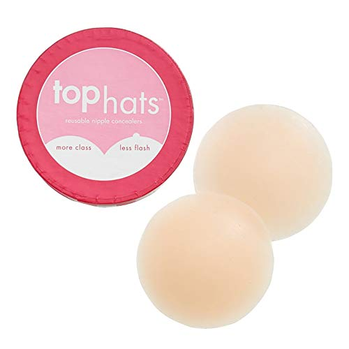(Commando Women's Top Hats Nipple Concealers, Nude, Off White, Tan, One Size)