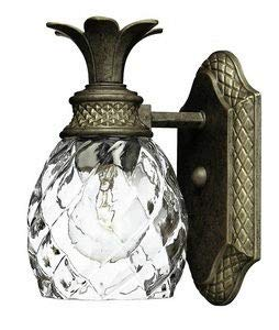 Hinkley 5310PZ Tropical/British Colonial One Light Bath from Plantation collection in Bronze/Darkfinish,