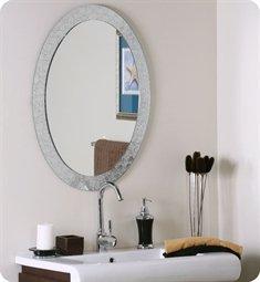 Decor Wonderland Luxor Frameless Oval Wall Mirror - Luxor Design Crystal
