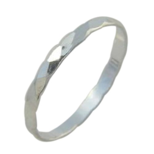 Sterling Silver Faceted Midi Toe Ring (5.5) by California Toe Rings