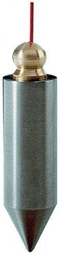 Senklot 300g zyl.Form Stahl m.Messingknopf