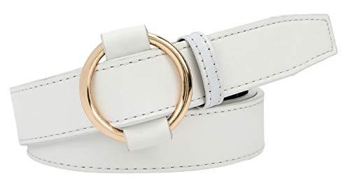 Zacharias Women's Faux Leather Belt ( White , Free Size )