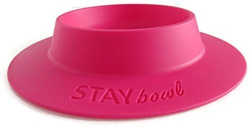 (STAYbowl Tip-Proof Bowl for Guinea Pigs and Other Small Pets - Fuchsia (Pink) - Large 3/4 Cup Size New)