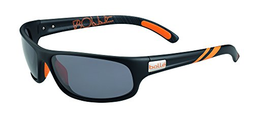 Bolle Anaconda Sunglasses Matt Black/Orange, Smoke by Bolle