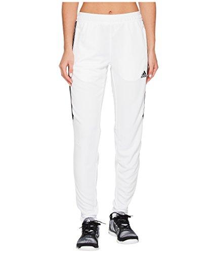 adidas Womens Soccer Tiro 17 Training Pants, White/Black, X-Small