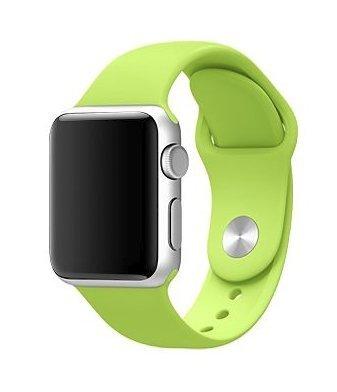 9807d3cf65e Pulseira Sport em Silicone para relógio Apple Watch 42mm Series 3 2 1  (Verde 42mm