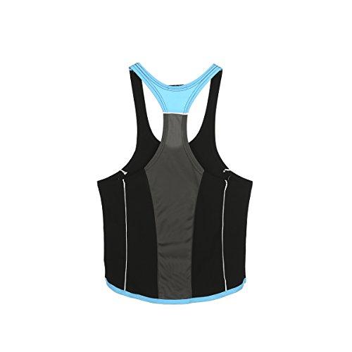 Gli Fitness Per Da Canotta Amanti amp; Athletic Sportiva Nero Uomo Del Blu qwa68XR