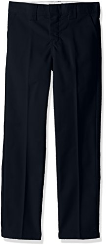 Dickies Boys' Little Slim Straight Pant 4 to 7, Dark Navy 7