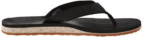 Teva Mens Classic Premium Leather Flip-Flop Black JAz8TEk