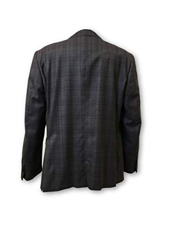 50r Structured Wool Zileri Grey Pal Check In Jacket purple Size Fully q7WzxCwE4
