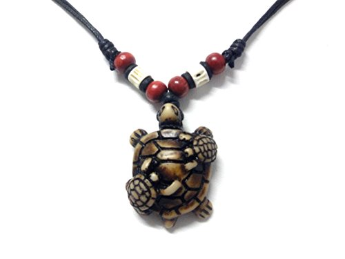 Baby Ladybug Costume Diy (Brown Turtle Pendant Necklace - Turtle Family Necklace - Mother and Baby Turtles - Bone Beaded Necklace)