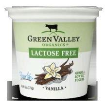 Green Valley Organics, Yogurt Lactose Free Vanilla Lowfat Organic, 6 Ounce