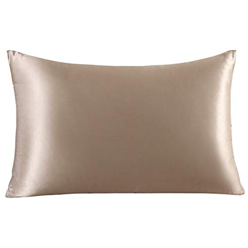 ZIMASILK 100% Mulberry Silk Pillowcase for Hair and Skin,Both Side 19 Momme Silk, 1pc (King 20
