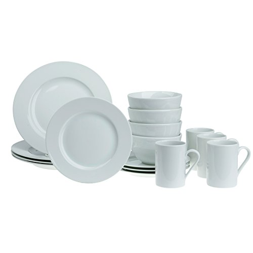 Tabletops Gallery 16 Piece Round Rim Dinnerware Set - Soleil