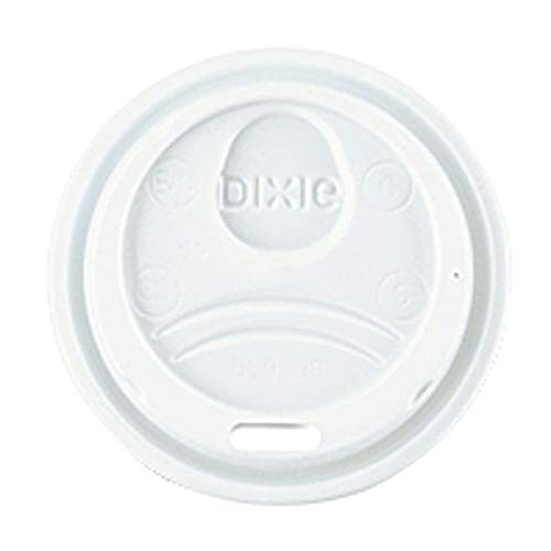 DXE9538DXPK - Dixie WiseSize, Fits 8 Ounce Hot Drink Cups, White, 100 Lids