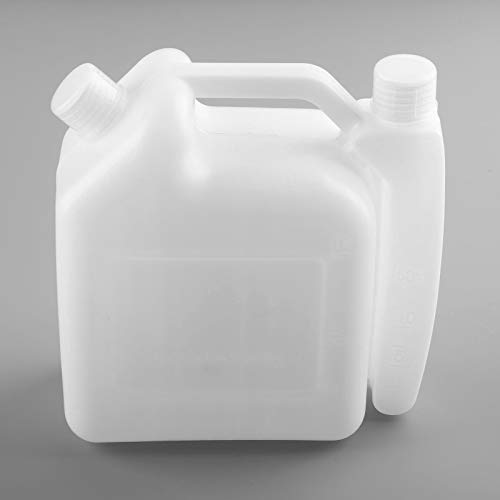 Hicello Oil Petrol Fuel Mixing Bottle 1L Tank Container 25:1 50:1 for 2 Stroke Chainsaw