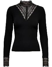 ONLY ONLTILDE L/S HIGH NECK LACE TOP JRS dames t-shirt
