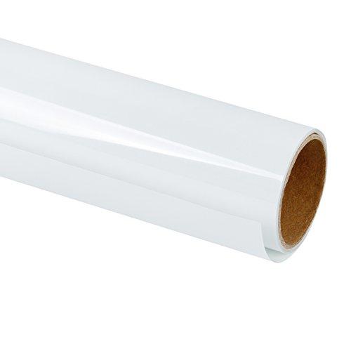 RUSPEPA Heat Transfer Vinyl HTV - Iron On for DIY T-Shirts, Craft Garment Heat Press - 12inch X 3Feet Roll - White