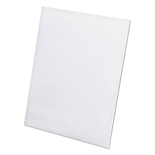Ampad Evidence Recycled Glue Top 8-1/2 x 11 Pads, Narrow Rule, White, 50 Sheets Per Pad, 12 Pack (21-168)