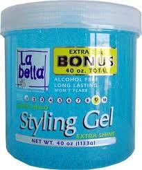 La Bella Super Hold Gel Style - Bleu 40 oz (Pack de 6)