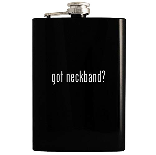 got neckband? - 8oz Hip Drinking Alcohol Flask, Black
