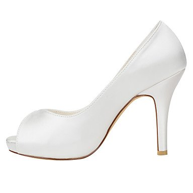eu36 us6 amp; Pump Summer Dress 3 ggx Basic Heels Stiletto 4in uk4 4 Basic Satin Heel Party 4in Evening cn36 Pump ivory Women's Ivory Stretch LvYuan yzgwcOBqz