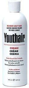 Youthair Creme pour hommes et femmes de couleur naturelle Peu à peu, 16 oz / 473 ml (Lot de 3)
