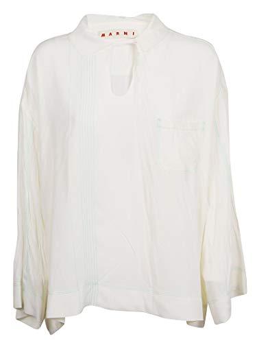 - Marni Women's Camaw34a00ta08900w03 White Cotton Blouse