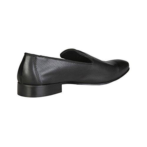 V 1969 - FELIX_NERO Glisser Sur Mocassins Loafers En Cuir Hommes