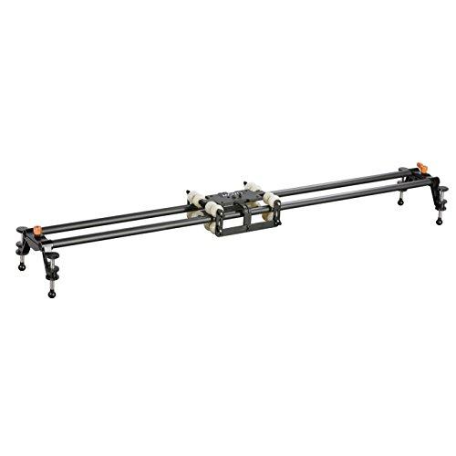 Movo Photo MV-WS100 39'' Carbon Fiber Rail Slider System with 8-Bearing Camera Platform by Movo