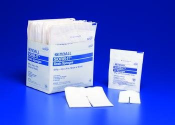 SORB-IT Drain and IV Sponges - 2'' x 2'', 6-Ply - 1 package (2 Each)