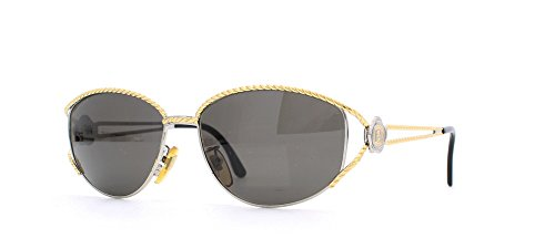 Fendi 7022 140 Gold and Silver Authentic Women Vintage Sunglasses