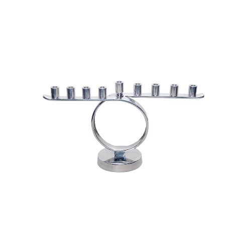 Contemporary Menorah (Insideretail Circle Menorah, 30 by 9 by 17cm, Polished Aluminum)