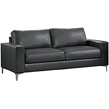Amazon Com Homelegance Track Arm Sofa With Metal Accent