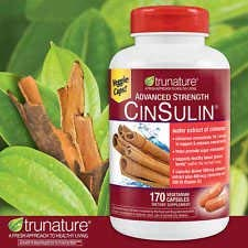 Trunature Advanced Strength Cinsulin 3Pack (170 Capsules) Result of its Long History of use