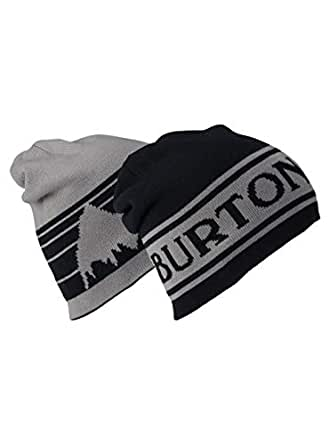 Burton Snowboards Men's Billboard Beanie Hat, True Black/Iron Gray, One Size