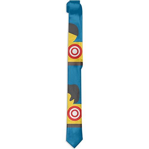 WONDERMAKE Eco-Friendly Fashion Novelty Slim Rubber Yellow Duck Art Necktie for Men Groom Groomsmen -