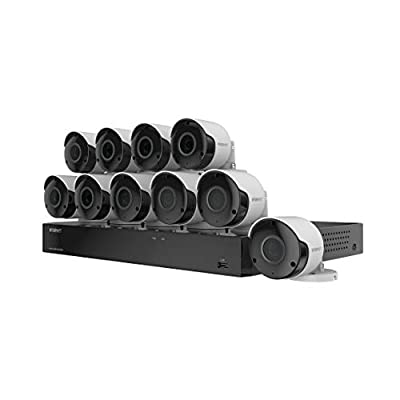 Wisenet SDH-C85105BF 16 Channel Super HD DVR Video Security System with 2TB Hard Drive and 10 5MP Weather Resistant Bullet Cameras (SDC-89445BF) (Renewed) by Samsung Wisenet