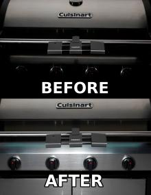 Before & After - Grilluminate brings exceptional brightness to your control panel & cooking surface