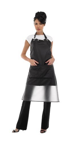 Zyrca 79  Street Savvy Stylist Apron, Lightweight Leatherette, Water Resistant, Zippered Pockets, Adjustable Neck Closure