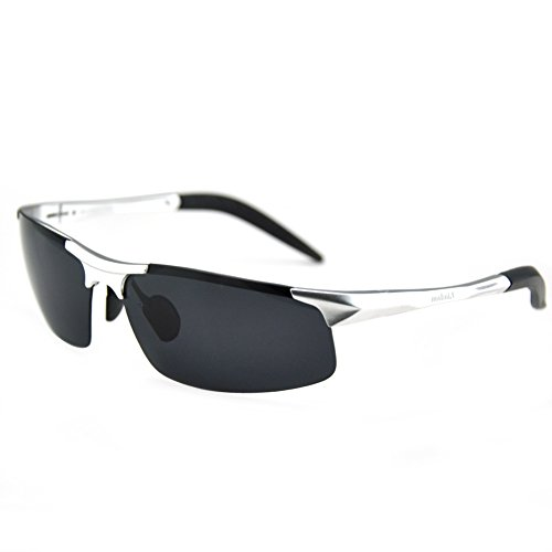 Pensee 1389 Mens Outdoor Sports Fishing Cycling Fashion Aviator Polarized Sunglasses (Gun - Subglasses Shop