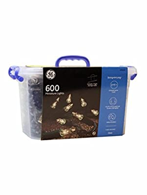 GE String-A-Long 600-Count 124.2-ft Constant White Mini Plug-in Indoor/Outdoor Christmas String Lights Item # 785656 Model # 60876LO