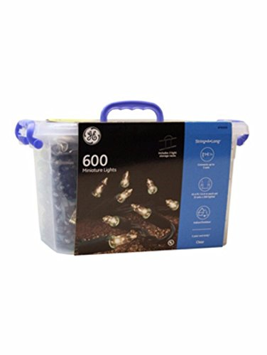 GE String-A-Long 600-Count 124.2-ft Constant White Mini P...