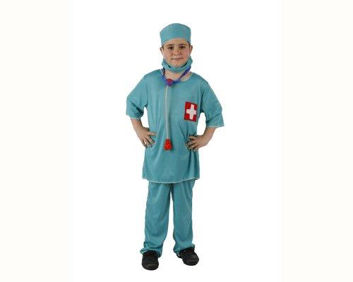 Atosa-95774 Disfraz Doctor, color celeste, 10 a 12 años (95774)