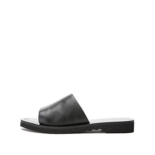 Mujer bajo DHG Altos Moda Planas Sandalias Sólido Dulces de de Punta Ocasionales Sandalias de de de Tacones Sandalias Negro de 35 Tacón Verano Zapatillas Color RfYRxB